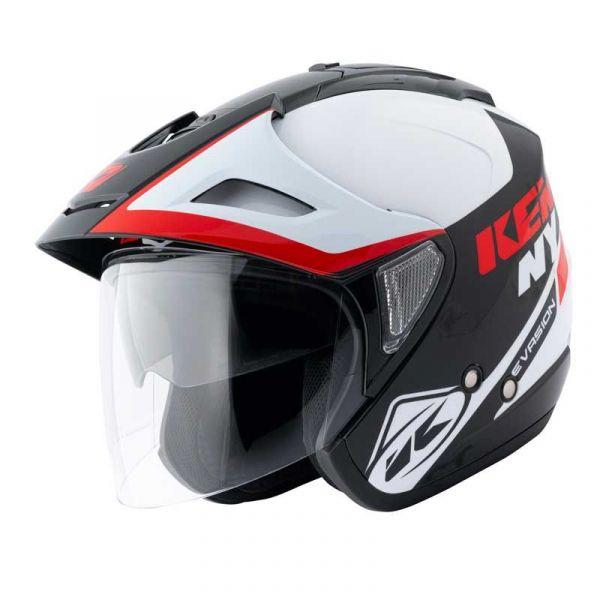 Casti Jet (Open Face) Kenny Casca Jet Evasion Red 2020