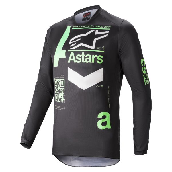 Tricouri MX-Enduro Alpinestars Fluid Chaser Jersey Black/Mint 2021