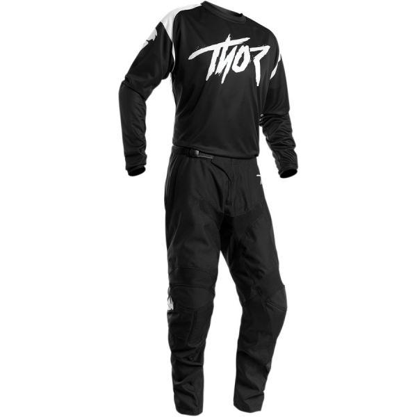 Combo MX Enduro Thor Combo Tricou + Pantaloni Sector Link Negru/Alb