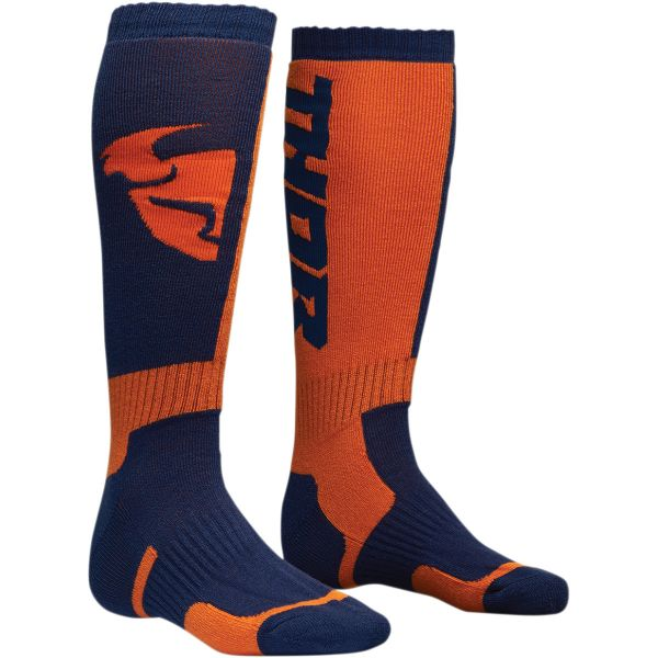 Cizme MX-Enduro Copii Thor Sosete Moto MX Copii S8 Navy/Orange