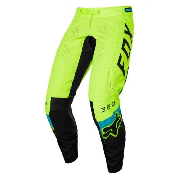 Pantaloni MX-Enduro Fox Pantaloni Moto MX 360 Dier Flo Yellow 2021