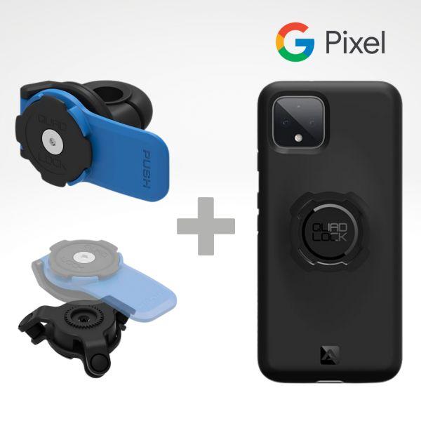Suport Ghidon Telefon/GPS Quad Lock Kit Suport Telefon Moto pe Oglinda + Amortizor Vibratii + Carcasa Telefon Google