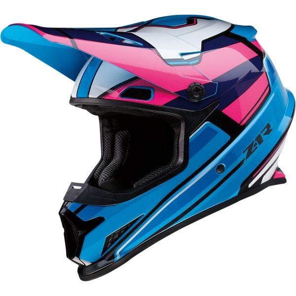 Casti MX-Enduro Z1R Casca Moto MX Rise Mc Pink/Blue 2022
