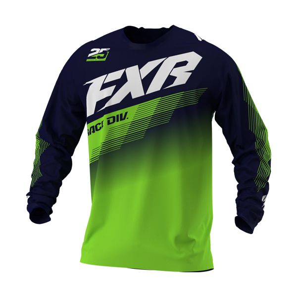 Tricouri MX-Enduro FXR Tricou MX Clutch Midnight/Lime 2021