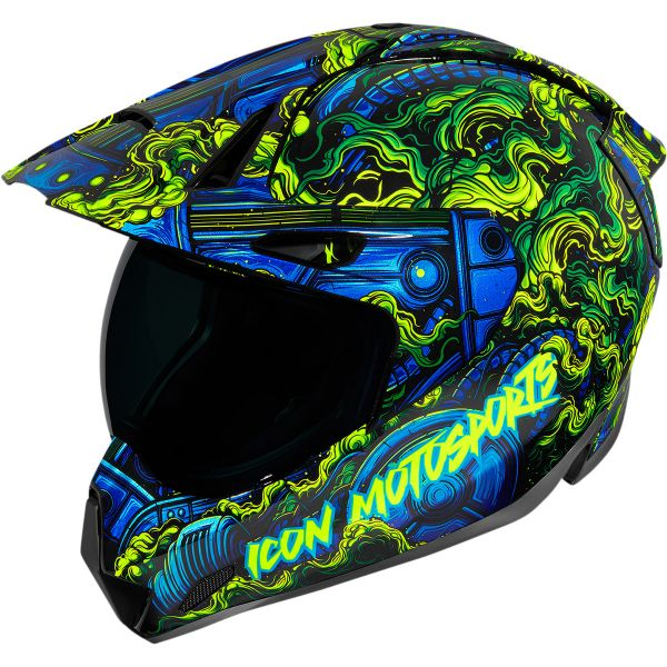Casti Moto Adventure-Touring Icon Casca Moto Full-Face Variant Pro Willypete Blue 2021