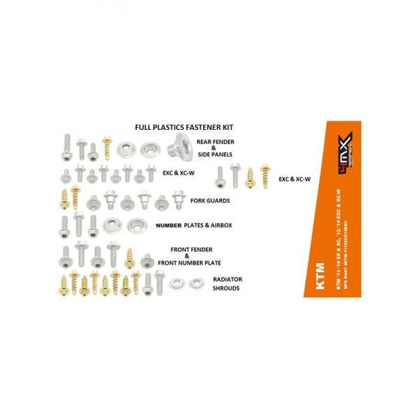 Scule 4MX Kit Suruburi Plastice KTM 11-14, 12-14 54 Piese