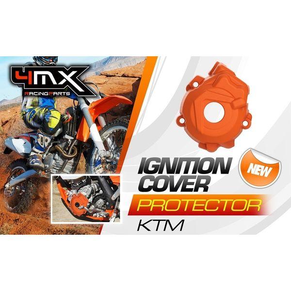 Scuturi moto 4MX Protectie Plastic Capac Aprindere KTM 4T 14-16 Orange