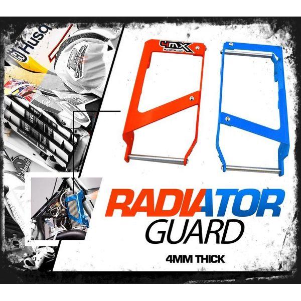4MX Protectii Radiator Husqvarna-Husaberg 2012-2015 Aluminiu 4MX Albastru