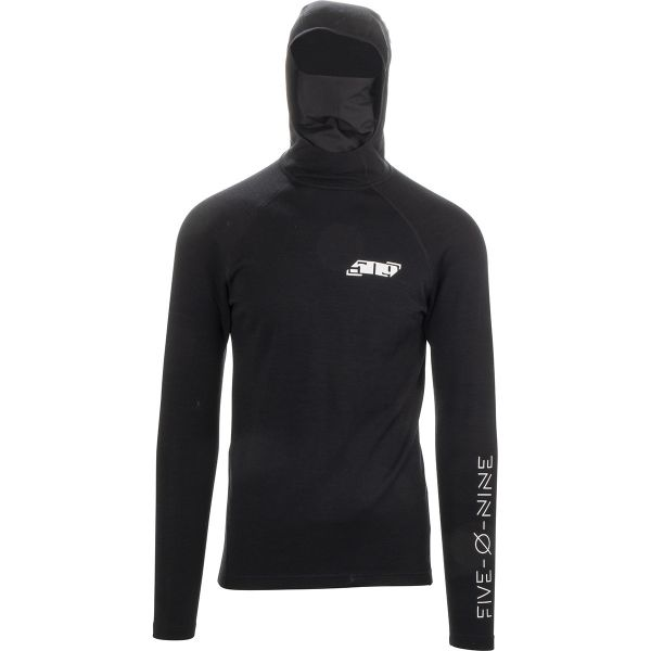 Underlayer Snow 509 Bluza Corp Base Layer FZN Merino Hoodie Black 2021