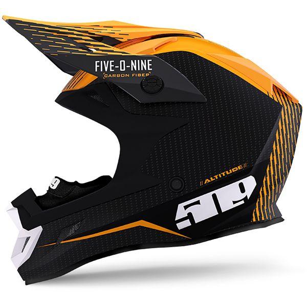 Casti Snowmobil 509 Casca Altitude Carbon Fiber 3K ECE Off-Grid Orange 2020