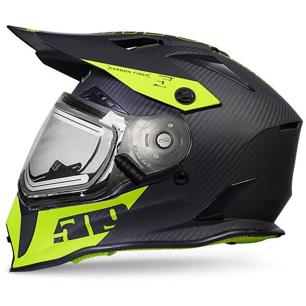 Casti Snowmobil 509 Casca Delta R3 Carbon Fiber Ignite Helmet Hi Vis 2020