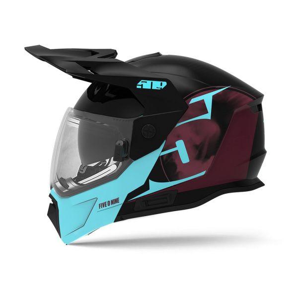 Casti Snowmobil 509 Casca Snow Delta R4 Ignite Teal Maroon Gloss 2022