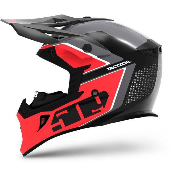 Casti Snowmobil 509 Casca Snow Tactical Dark Ops Red 2021