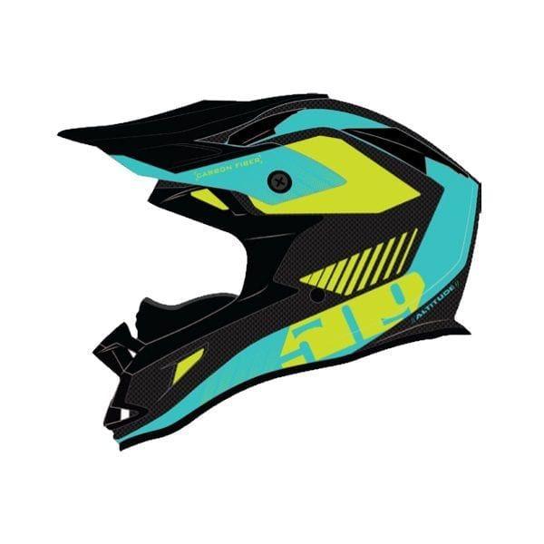 Casti Snowmobil 509 Casca Tactical ECE Teal Hi Vis 2020