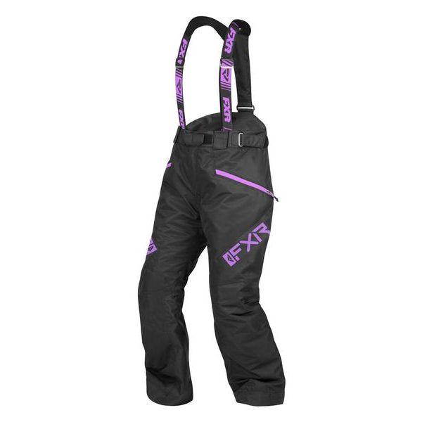 Pantaloni Snow - Dama FXR Pantaloni Snow Dama Insulated Fresh Black/Lilac 2021