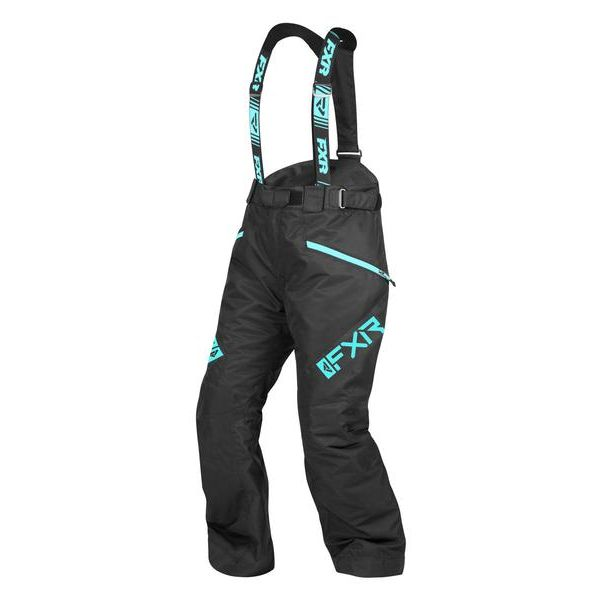 Pantaloni Snow - Dama FXR Pantaloni Snow Dama Insulated Fresh Black/Sky Blue 2021