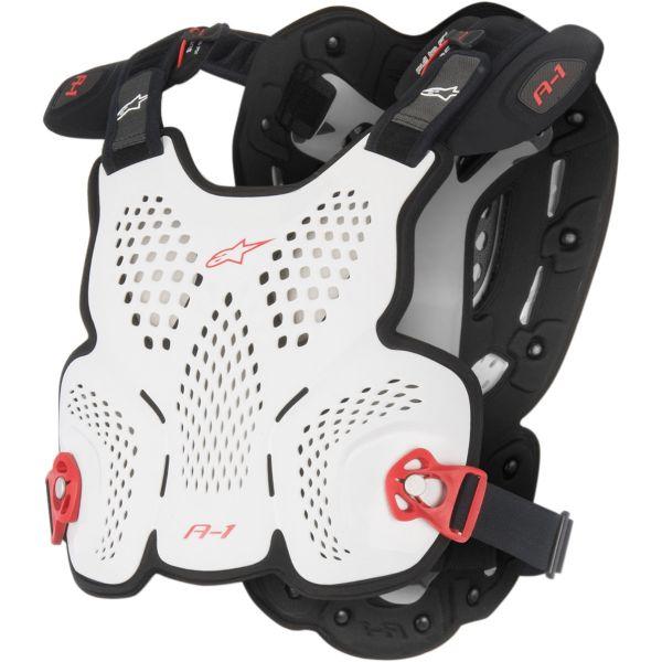 Protectii Piept-Spate Alpinestars Protectie Moto MX Piept A-1 Black/White 2020