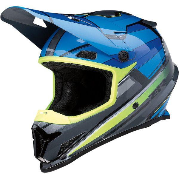 Casti MX-Enduro Z1R Casca Moto MX Rise Mc Blue/Yellow Hi-Vis 2022