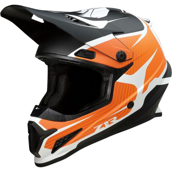Casti MX-Enduro Z1R Casca Moto MX Rise Flame Black/Orange 2022