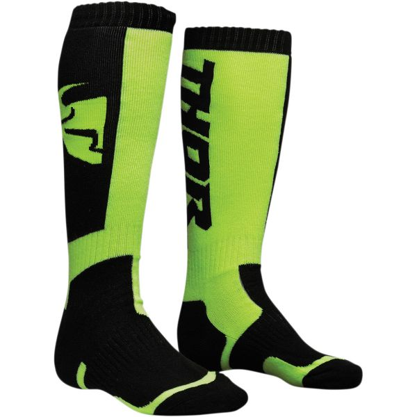Cizme MX-Enduro Copii Thor Sosete Moto MX Copii S8 Black/Lime