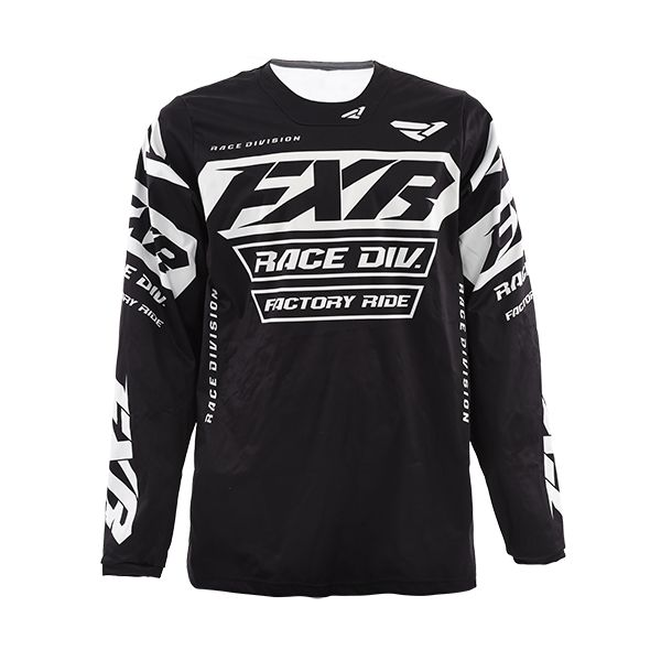Tricouri MX-Enduro FXR Tricou MX Cold Cross RR Black 2019