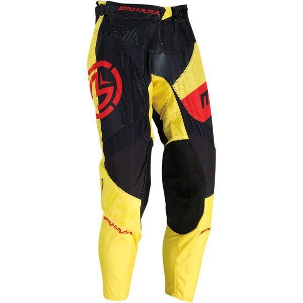 Pantaloni MX-Enduro Moose Racing Pantaloni MX Sahara Negru/Yellow/Rosu 2021