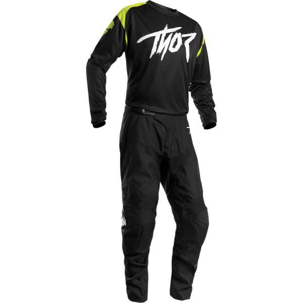 Combo MX Enduro Thor Combo Tricou + Pantaloni Sector Link Negru/Verde