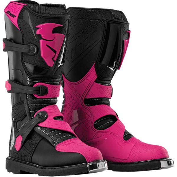 Cizme MX-Enduro Thor Cizme Moto MX Dama Blitz S6 Off Road Black/Pink