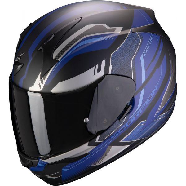 Casti Moto Integrale Scorpion Exo Casca Moto Full-Face Exo 390 Boost Black/Silver/Blue