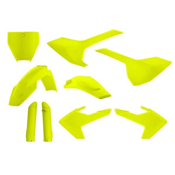 Plastice MX-Enduro Acerbis Kit Complet Plastice Husqvarna Yellow Fluo 2017-2019