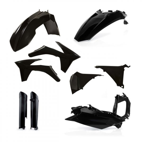 Acerbis Kit Plastice AC KTM EXC/EXCF 2012-2013 Negru Fara Placa Far