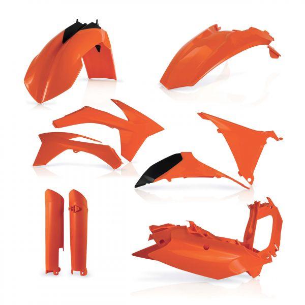 Plastice MX-Enduro Acerbis Kit Plastice AC KTM EXC/EXCF 2012-2013 Portocaliu Fara Placa Far
