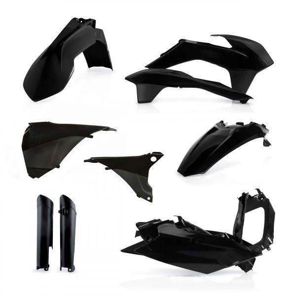 Plastice MX-Enduro Acerbis Kit Plastice AC KTM EXC/EXCF 2014-2015 Negru Fara Placa Far
