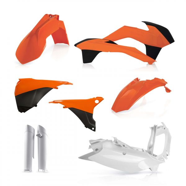 Acerbis Kit Plastice AC KTM EXC/EXCF 2014-2015 Negru/Portocaliu/Alb Fara Placa Far
