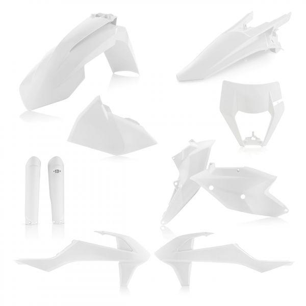 Plastice MX-Enduro Acerbis Kit Plastice Complet AC KTM EXC-EXCF White 2017-2019