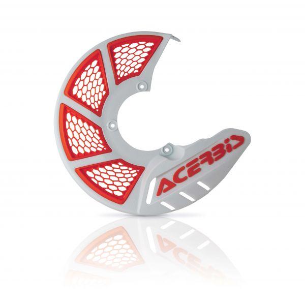 Protectii Disc Frana Acerbis Protectie Disc Frana Fata AC X-Brake 2.0 Alb/Portocaliu