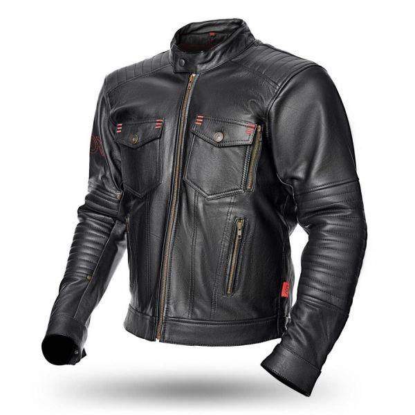 Geci Moto Piele Adrenaline Geaca Moto Piele BOSTON CE Black 2021