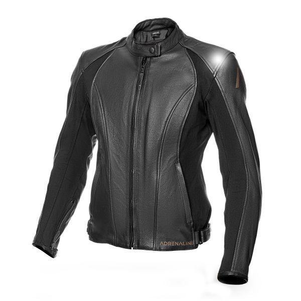 Geci Moto Piele Adrenaline Geaca Moto Piele Dama SIENA 2.0 CE Black 2021