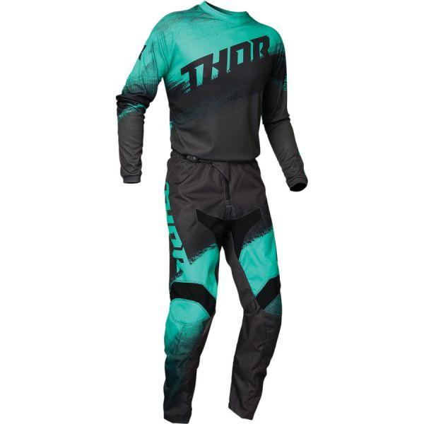 Thor Combo Tricou + Pantaloni Sector Vapor Multicolor Verde 2020