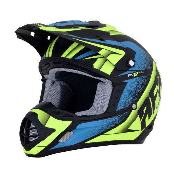 AFX Casca FX-17 Force Black/Green/Blue 2019