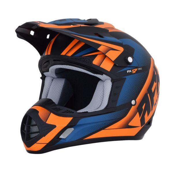 Casti MX-Enduro AFX Casca FX-17 Force Black/Orange/Blue 2019