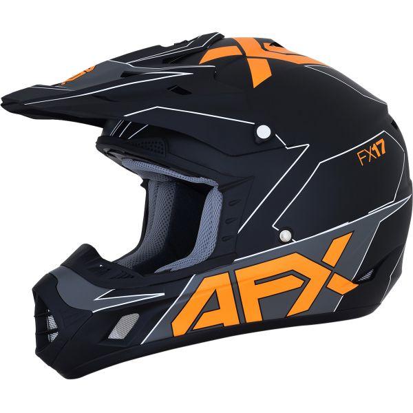 Casti MX-Enduro AFX  Casca Moto MX FX-17 Matte Black/Orange 2021