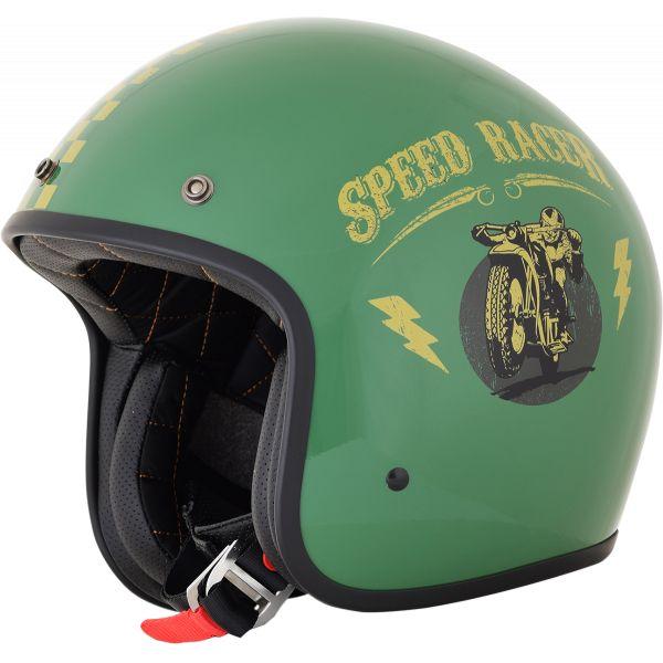 Casti Jet (Open Face) AFX Casca FX-76 Speed Racer Vintage Gloss Green/gold 2021