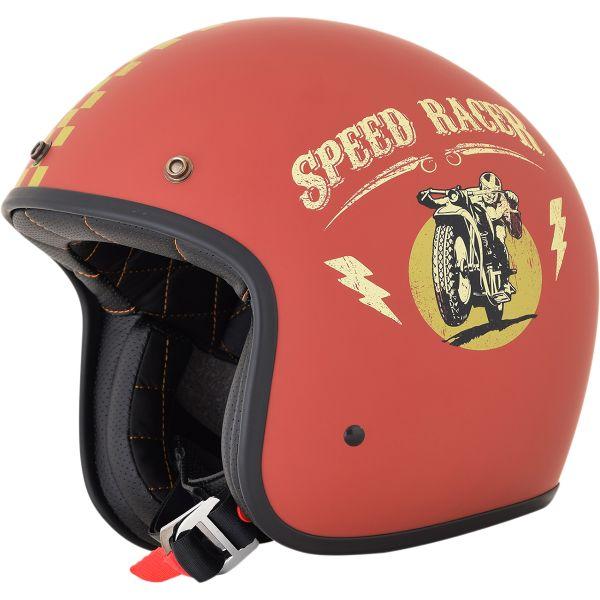 Casti Jet (Open Face) AFX Casca FX-76 Speed Racer Vintage Matte Rust/gold 2021