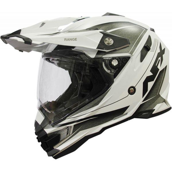 Casti ATV AFX  Casca Moto Dual Sport FX-41 Range Matte White 2021