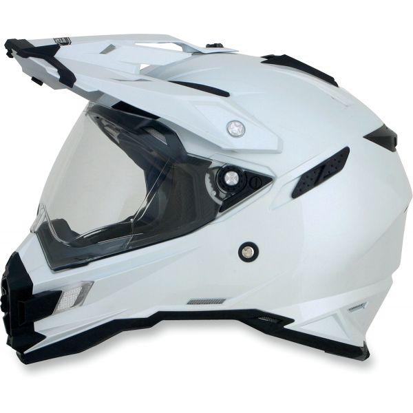 Casti ATV AFX Casca Moto Dual Sport FX-41DS Adventure Pearl White 2021