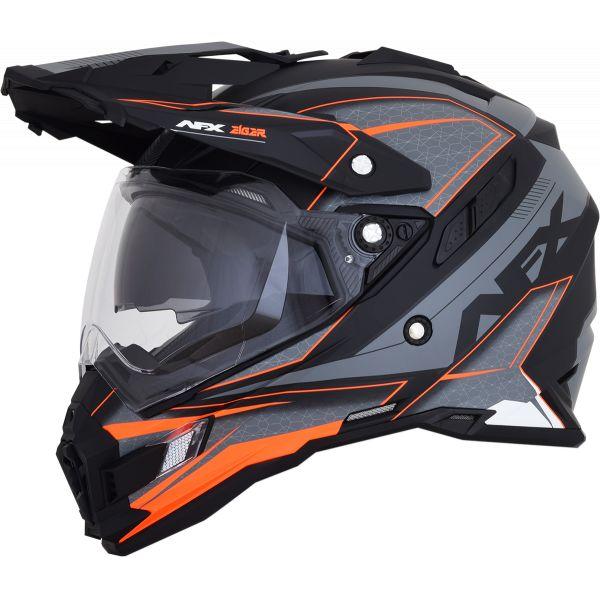 Casti ATV AFX Casca Moto Dual Sport FX-41DS Eiger Adventure Frost Gray/Orange 2021