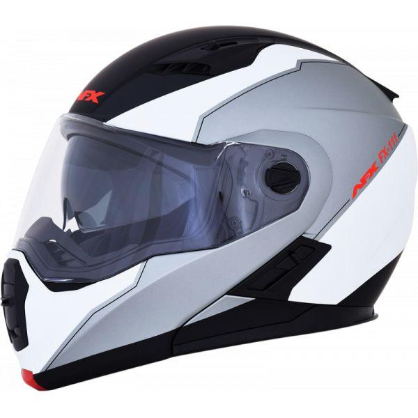 Casti Moto Flip-up (Modulabile) AFX  Casca Moto Modulara FX-111 Matte Black /White 2021