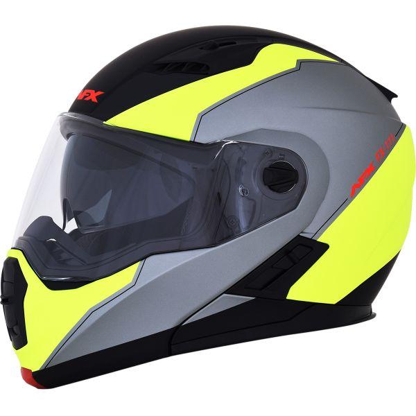 Casti Moto Flip-up (Modulabile) AFX  Casca Moto Modulara FX-111 Matte Black /Yellow 2021