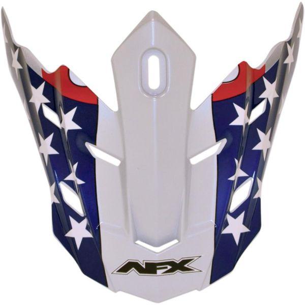 Accesorii Casti Enduro AFX Cozoroc Casca FX-17 Freedom Flag White